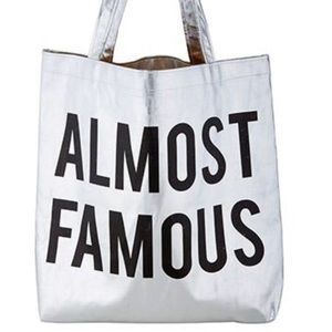 NWT Almost Famous Platinum Tote Bag